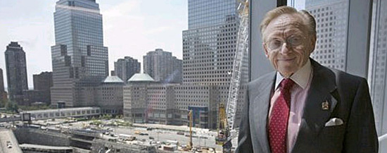 Larry Silverstein no local do WTC