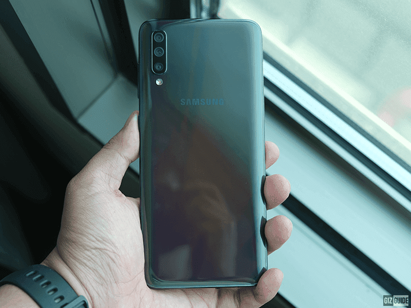 Galaxy A70 back design