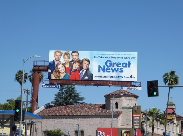Great News series launch billboard