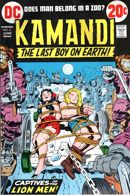 Kamandi v1 #6 dc 1970s bronze age comic book cover art by Jack Kirby