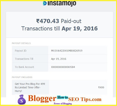 Instamojo Charges, Payment Proof