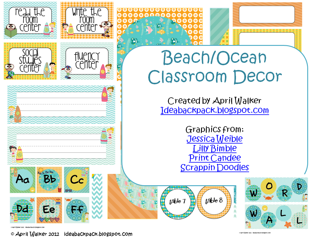 The Idea Backpack: classroom reveal part 1 and beach ...