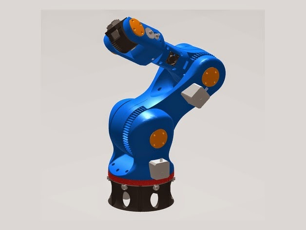 picture about 3d Printable Robot known as ChaozLabs: 3D printable Robotic Arm