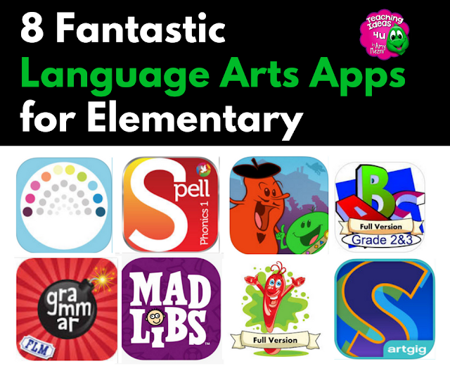 Are you looking for fantastic language arts apps to use with your upper elementary students? Check out these eight fantastic language arts apps!