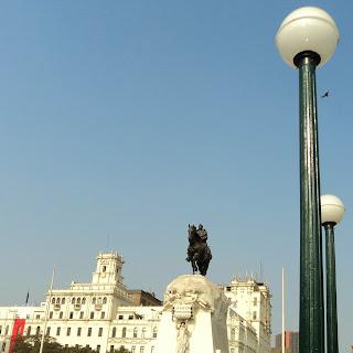 Plaza San Martín, no Centro de Lima