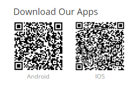 You may also use these QR codes to download the app.