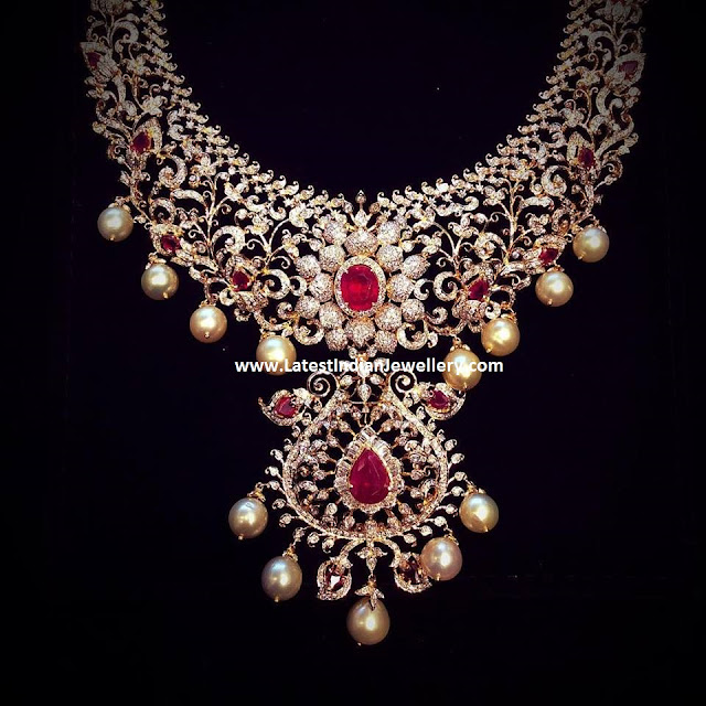 Exquisite Ruby Diamond Necklace