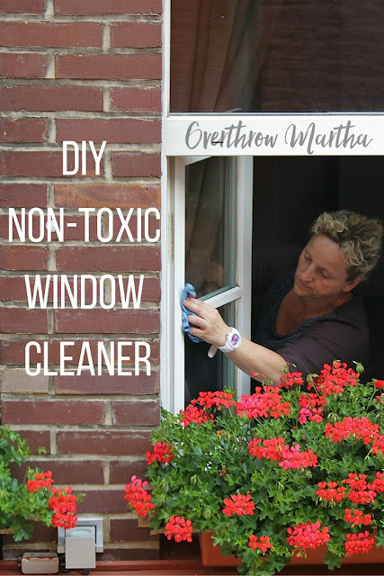 DIY nontoxic window cleaner using Thieves Household Cleaner