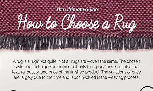 The Ultimate Guide : How to Choose a Rug