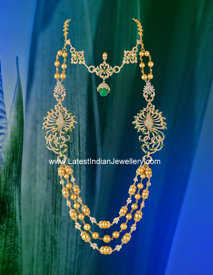 Kirtilals Detachable Diamond Necklace and Haram