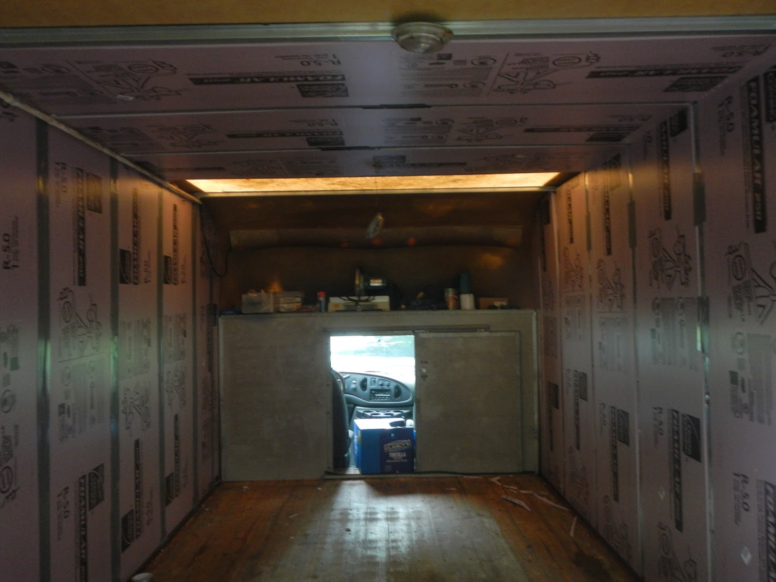 Converting A Box Truck Into An Rv Bessie Gets Insulated