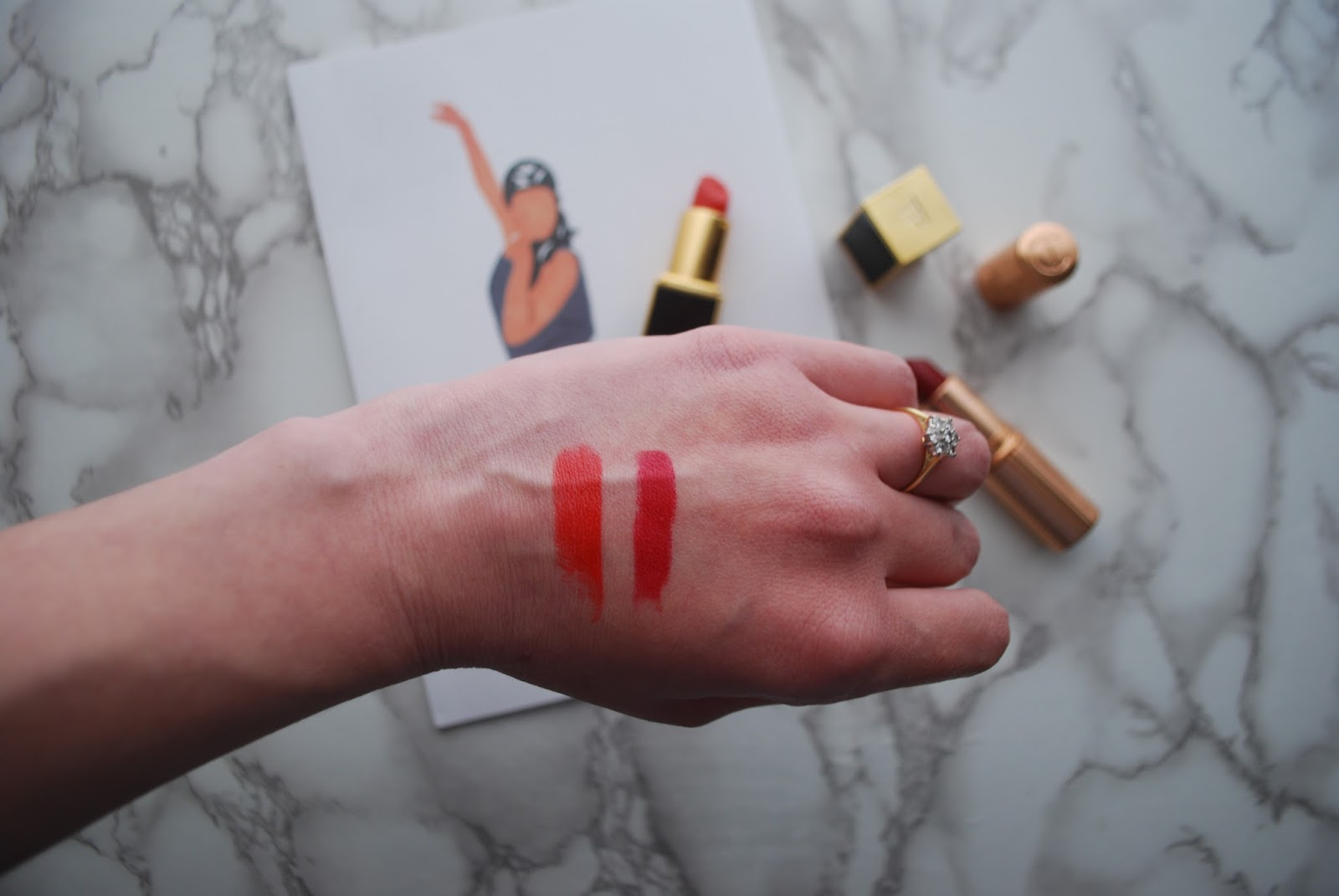 Tom Ford Wild Ginger Charlotte Tilbury Red Carpet Red swatch swatches lipstick luxury lipstick