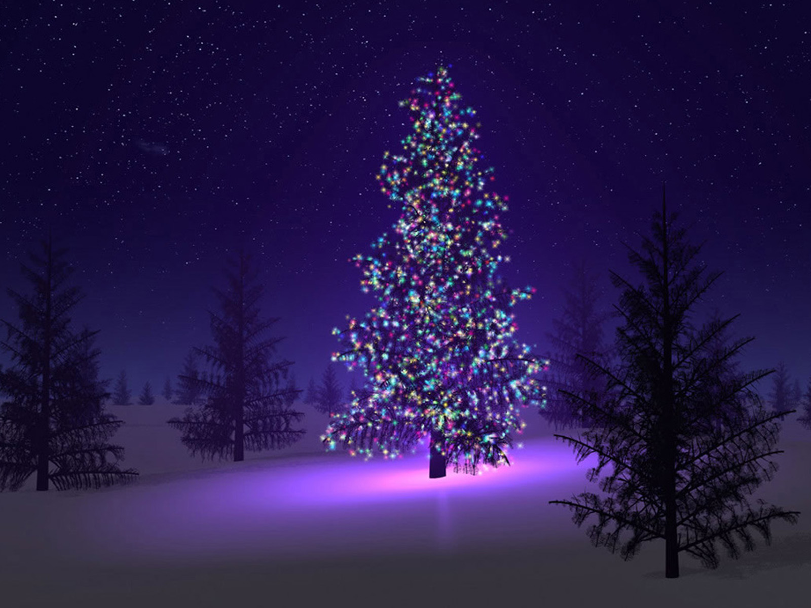 wallpaper: Christmas Trees Wallpapers