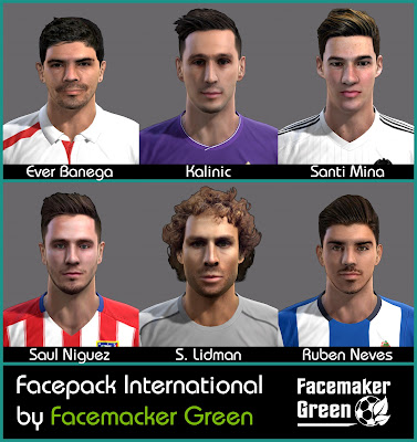 PES 2013 Facepack International by Facemaker Green