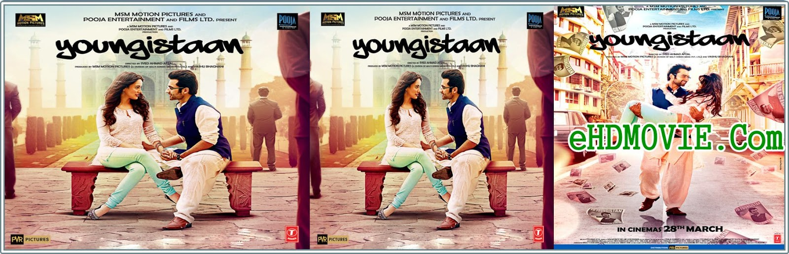 Youngistaan 2014 Full Movie Hindi 720p - 480p ORG BRRip 350MB - 900MB ESubs Free Download