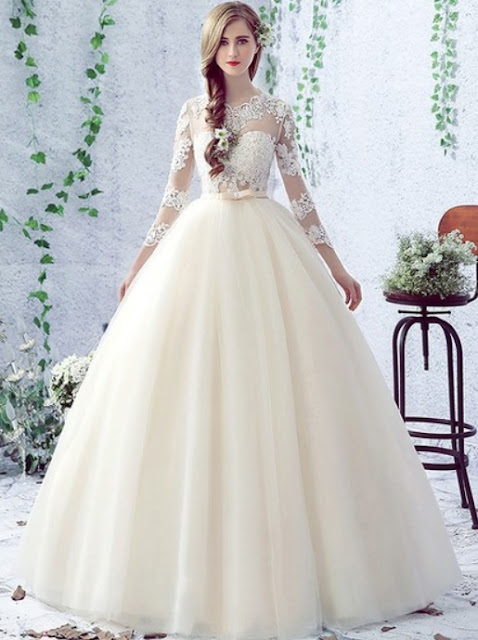 http://www.dressesofgirl.com/sweet-ball-gown-scalloped-neck-tulle-floor-length-appliques-lace-3-4-sleeve-open-back-wedding-dresses-dgd00022758-5877.html?utm_source=post&utm_medium=DG6002&utm_campaign=blog
