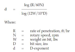 DECREASE IN D-EXPONENT