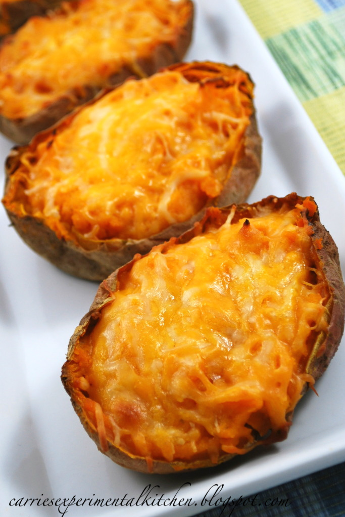 Carrie S Experimental Kitchen Twice Baked Lime Sweet Potatoes