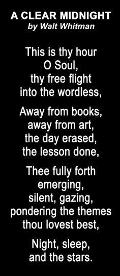 Best Walt Whitman Poems 1