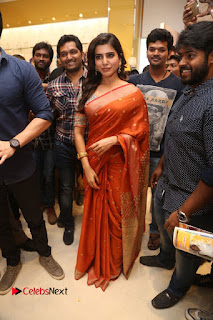 Actress Samantha Pictures in Saree at South India Shoping Mall Launch 0237