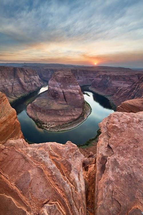 USA Arizona Horseshoe Landscape Mobile Wallpaper