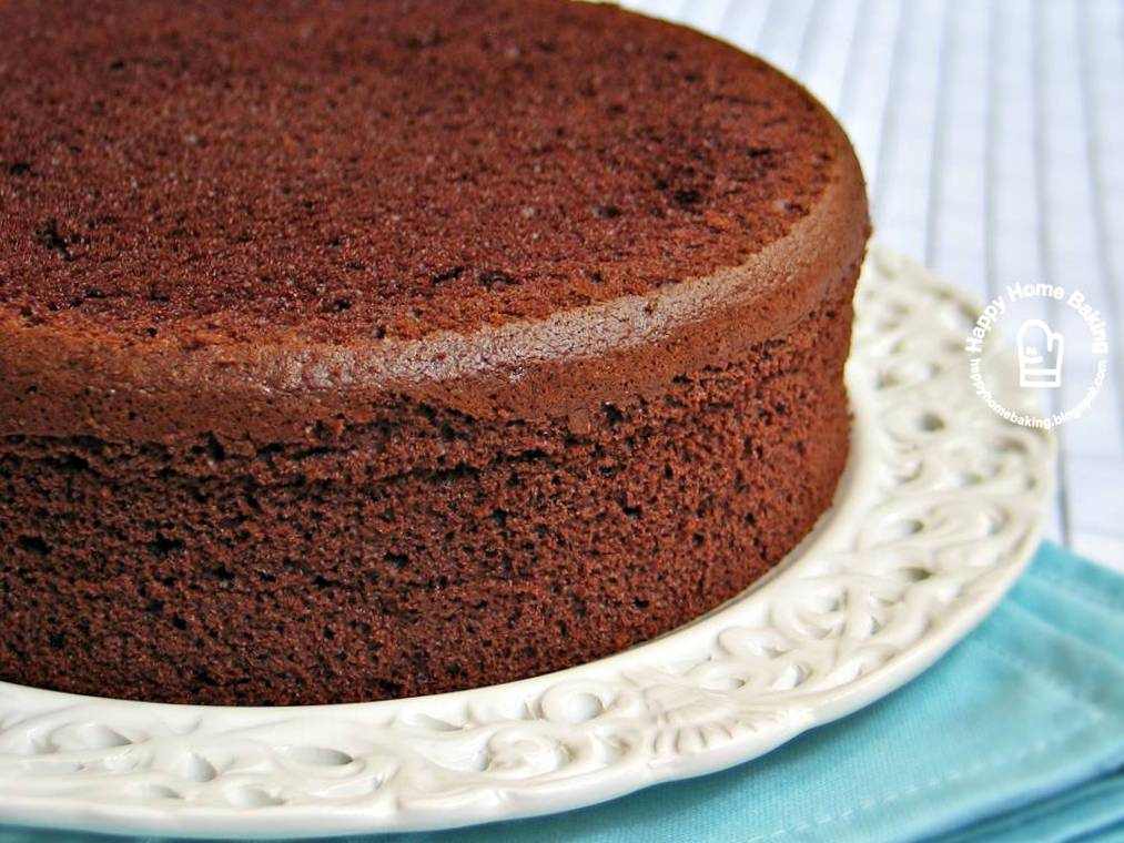 Chocolate Chiffon Sponge Cake Recipe