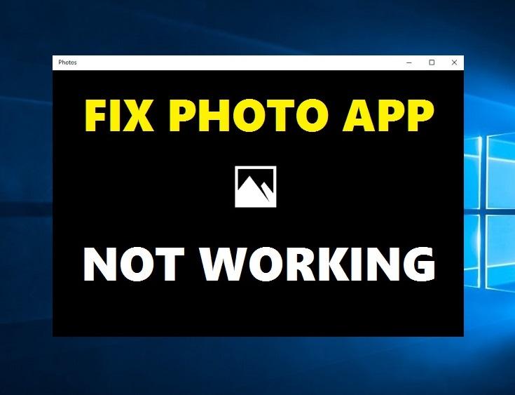 How to Fix Photos App Not Working in Windows 10 - InfoArena