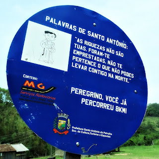 Placa de Oito Quilômetros - Caminho de Santiago, Santo Antônio da Patrulha