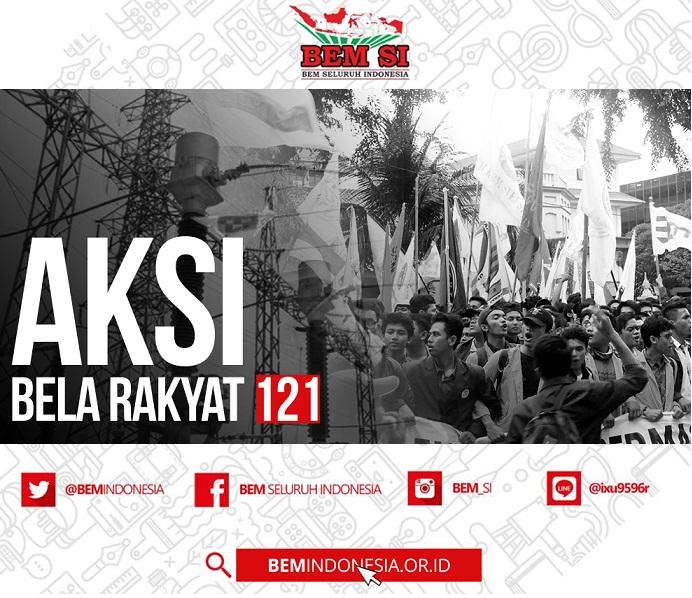 ini isi Aksi Bela Rakyat 121 Bem Indonesia