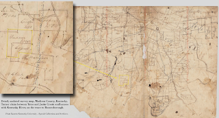 Undated survey map from Eastern Kentucky University - Special Collections and Archives.