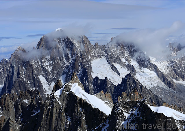 LANLAN TRAVEL: Day 4.1 - 阿爾卑斯山最高峰~白朗峰Mont Blanc.南針峰 Aiguille du Midi