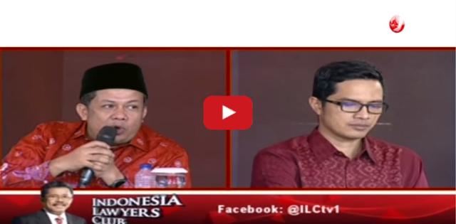 Geger! Di ILC Tv One, Fahri Hamzah Telanjangi Borok KPK, Jubir KPK Tertunduk