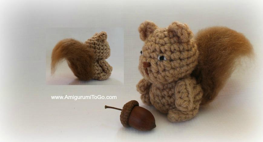 Ace the Tiny Squirrel ~ Amigurumi To Go