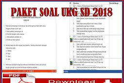 Download Paket Soal UKG SD Tahun 2018/2019