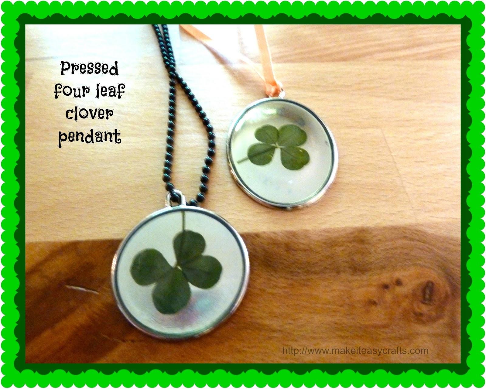 Make It Easy Crafts Four Leaf Clover Pendant With Dimensional Mod Podge