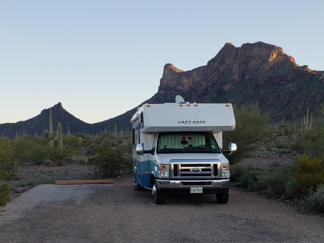 J and B and Lady Blue: Picacho Peak State Park, Arizona