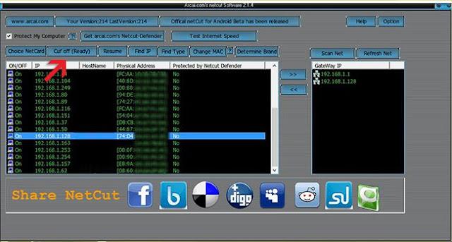 netcut, memutus, koneksi internet, mudah, cepat, menggunakan, cara