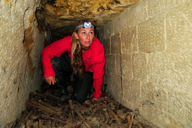 PAY-Alison-Teal-explores-catacombs