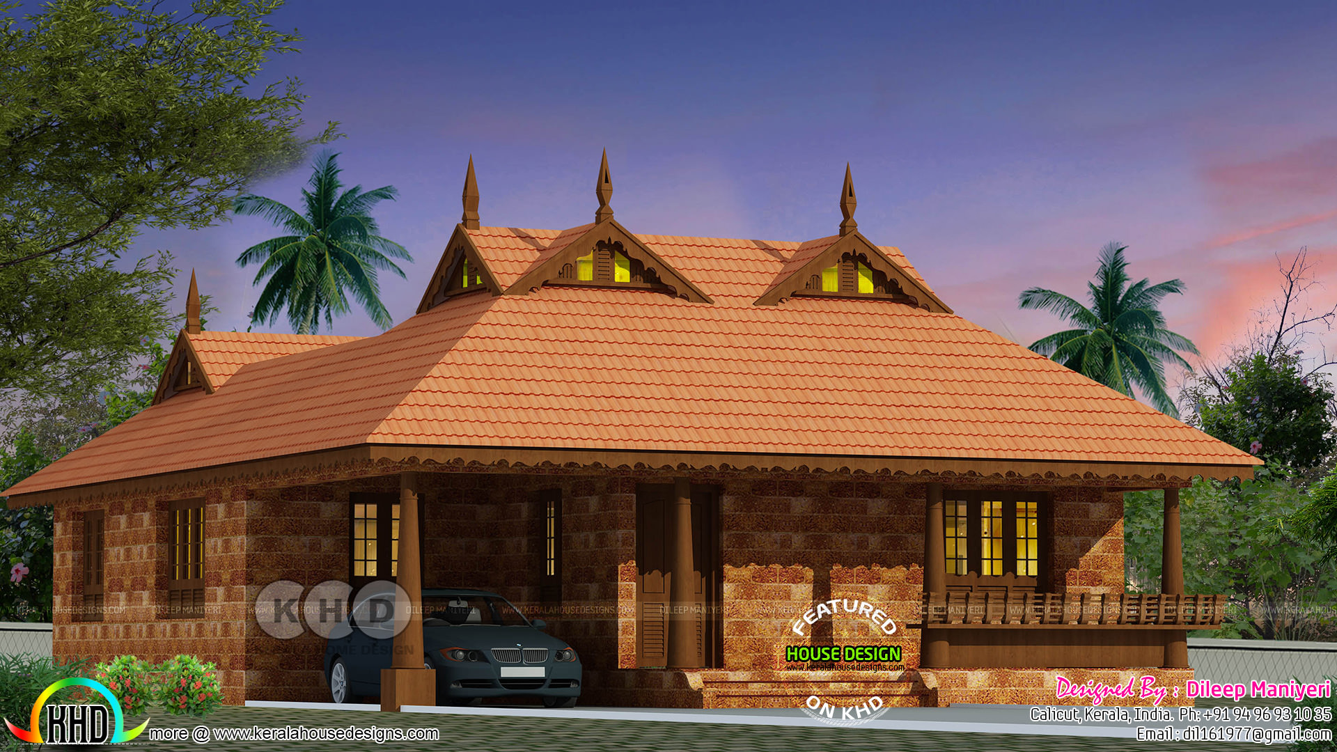 3 Bedroom Tradition Kerala Home With Nadumuttam Part - 23: 2 Bedroom Tradition Kerala Home With Nadumuttam