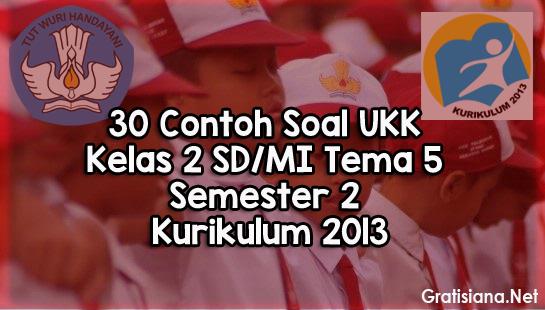 Contoh Soal UKK Kelas 2 SD/MI Tema 5 Semester 2