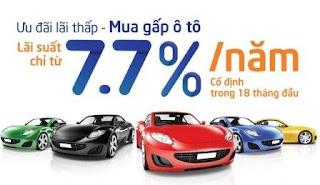 Trả góp ô tô lãi suất cực thấp