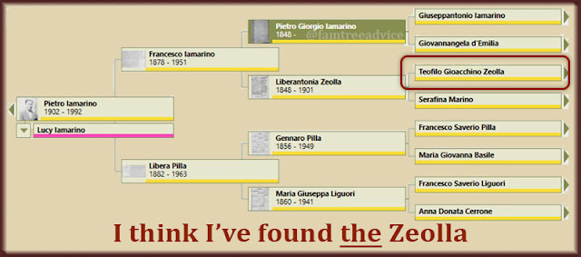 Everything seems to point to my 3rd great grandfather, Teofilo Zeolla.