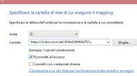 Mappare OneDrive come disco di rete in Windows