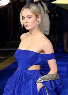 Brie Larson Hot Pics In Blue Dress