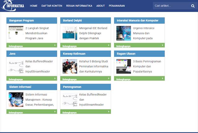 Kelas Informatika - Daftar Isi Blog Ala Kang Ismet