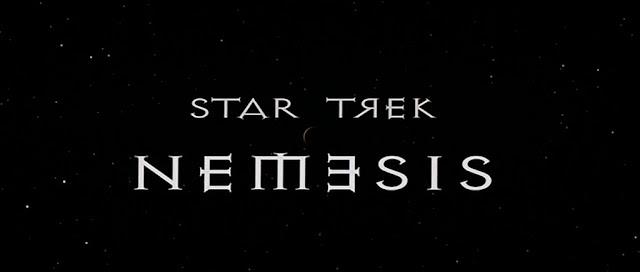 Star Trek Nemesis title logo DVD