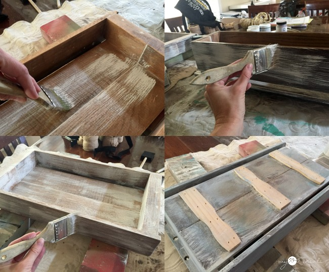 how to paint shabby chic style
