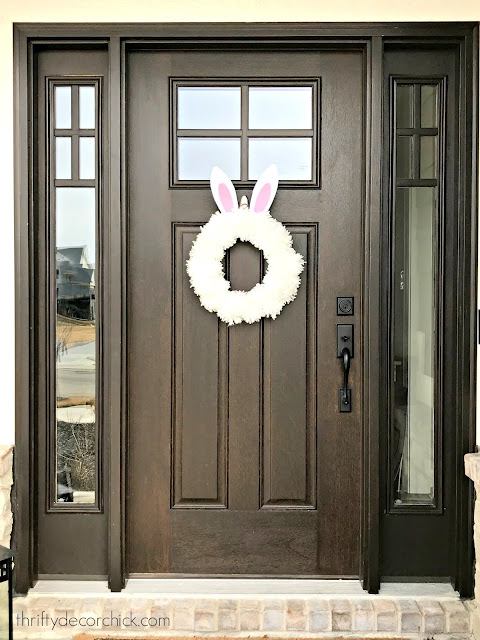 How to make an easy bunny wreath