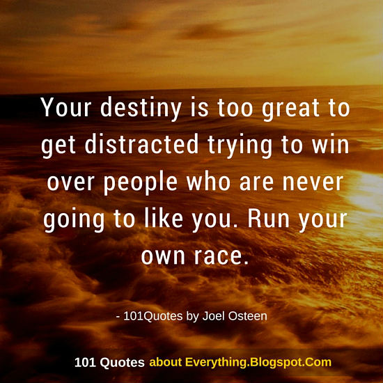 Your Destiny Is Too Great To Get Distracted Joel Osteen Quote Mesmerizing Joel Osteens Quotes