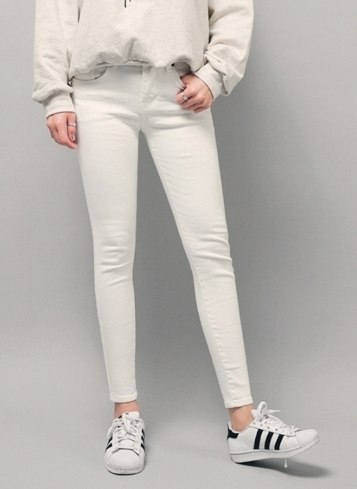 Skinny Fit Ivory Pants
